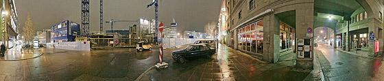 Bolzstraße bei Regen