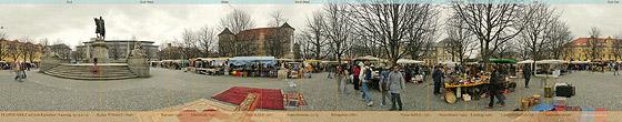 Flohmarkt auf dem Karlsplatz