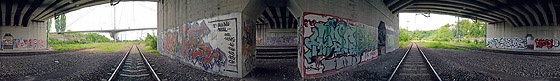 Graffiti unter der B27 Brücke