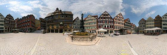Tübingens historischer Marktplatz