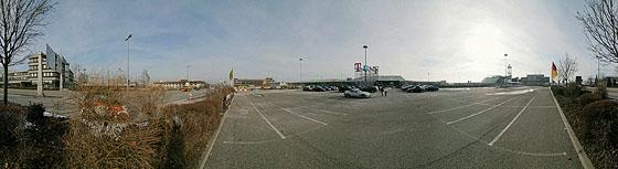 Auf dem Parkplatz P5