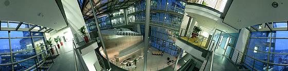 Blick auf das Foyer