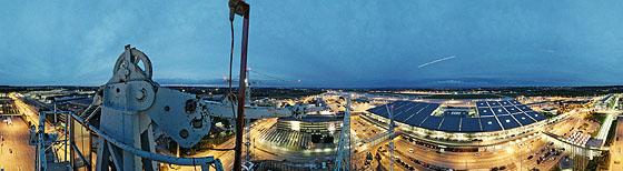 Ausblick auf die Terminals