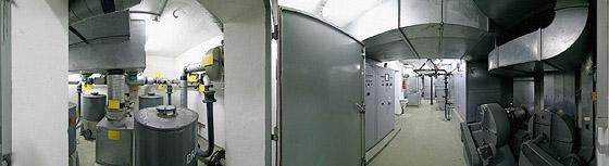 Die Luftfilter und Pumpen