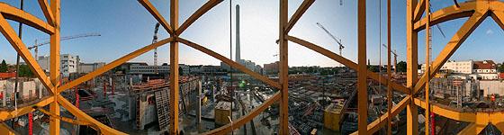 Die Baustelle der Erlangen Arcaden