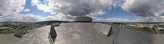 Auf dem Gaskessel-Dach (östlich)