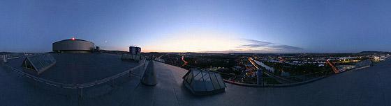 Auf dem Gaskessel-Dach (nordöstlich)
