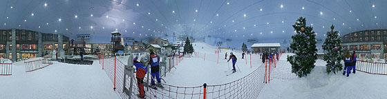 Skurille Schneelandschaft