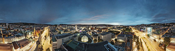 Stuttgarts gleißende Straßen