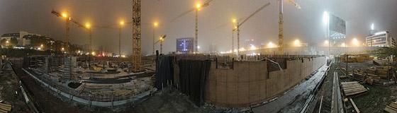 Nachtnebel über der ECE Baustelle