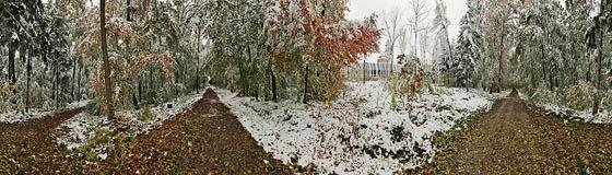 Herbstschnee am Wasserspeicher