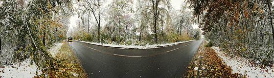 Herbstschnee in der Jahnstraße