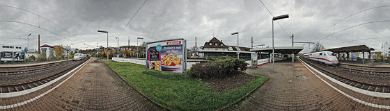 Gesperrter Bahnsteig Gleis 3