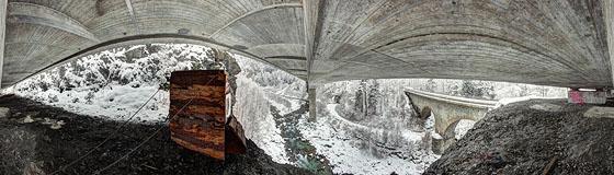 Betonbrücke bei Thusis