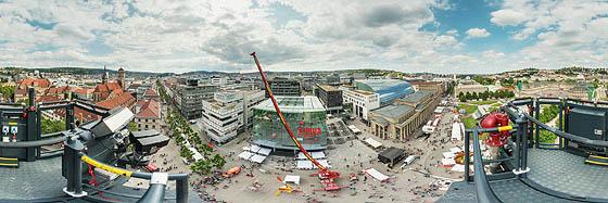 42 Meter über dem Schloßplatz