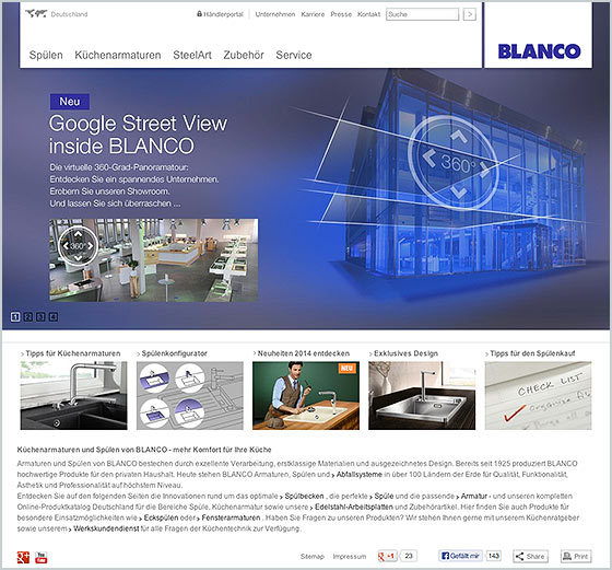 Blanco Showroom in Google Maps
