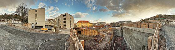 Baugrube an der Jägerstraße