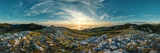 Velebit Gebirgszug in Kroatien